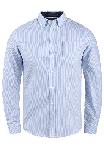 Blend Dubbo Herren Hemd Langarmhemd Freizeithemd mit Button-Down-Kragen, Größe:XXL, Farbe:Regatta (74010)
