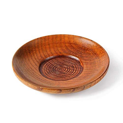 SPI 10 stks/partij thuis keuken eten prachtige houten Cup schotel hout handmatige Tangent kleine ronde saus gerechten borden Cup lade servies