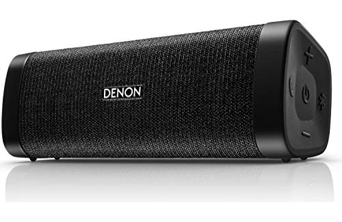 """Denon DSB-150BT Envaya Portable Bluetooth 7.4"""" Speaker (Black) - Lightweight, Waterproof & Dustproof 