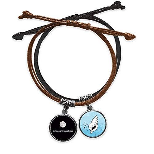 DIYthinker - Pulsera de cuerda, diseño con texto en inglés 'Moi et la luna del arte fotográfico'