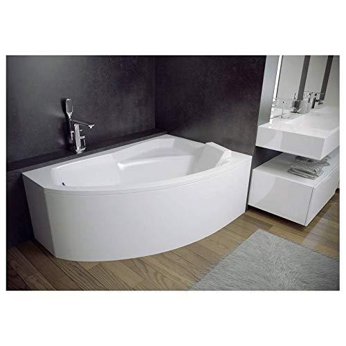 Azura Home Design - Bañera de esquina derecha rima 130/140/150/160/170 cm con...