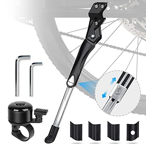 HASAGEI Fahrradständer, Höhenverstellbarer Fahrradständer für Mountainbike, Rennrad, MTB-Fahrrad. Sehr Stark, Kompatibel für Fahrrad 24-28 Zoll, Kommt mit Einer Schönen Fahrradklingel