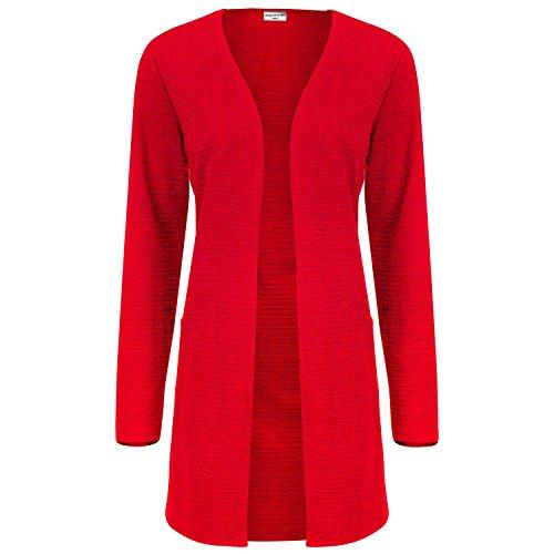 JACQUELINE de YONG Damen Sweat Cardigan, Farbe:rot;Größe:S