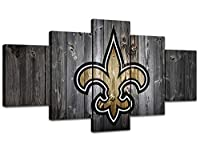 MIAUEN Pictures Sports Football New Orleans Saints Poster Living Room Wall Decor Canvas Art Home Game Room Decoration Prints Framed Paintings Ready to Hang(60''Wx32''H)