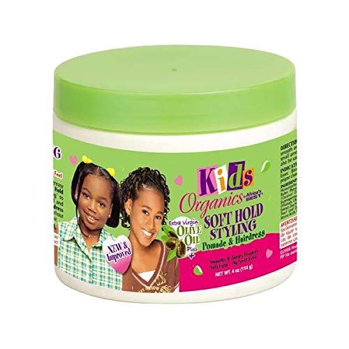 Africa's Best Kids Organics Soft Hold Styling Pomade & Hairdress, 4 Oz