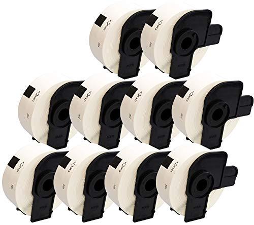 10 x DK11201 Etiketten (400 Etiketten pro Rolle) kompatibel zu Brother QL-500, QL-550, QL-560, QL-570, QL-580N, QL-650TD, QL-700, QL-720NW, QL-1050, QL-1060N Etikettendrucker (29mm x 90mm)