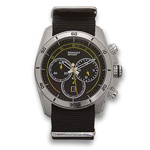 Renault Sport – Chrono Pilot – Herren – Analog Quarz Chronograph – Armband aus schwarzem Nylon