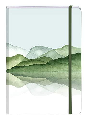 Clairefontaine 115643C La Vie en Vosges, Taccuino rigido, A5-14,8 x 21 cm, 96 pagine, a righe, chiusura con elastico, fantasie assortite