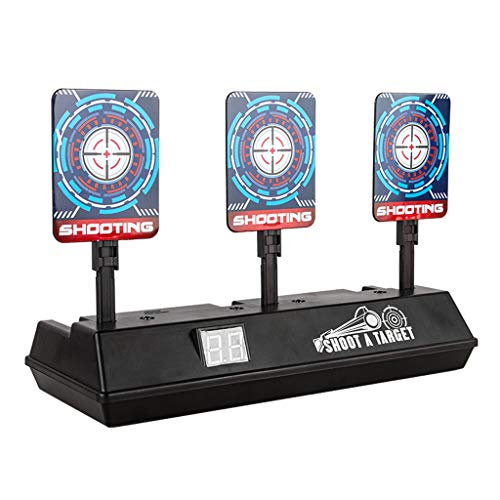 DingLong Upgrade-Geld Auto Reset Elektro-Schießscheiben für Nerf Guns N-Strike Elite/Mega/Rival-Serie, Digitale Ziele mit hellem Soundeffekt