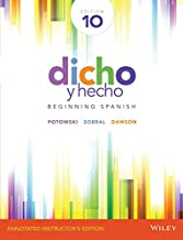 Dicho y Hecho: Beginning Spanish - Annotated Instructor's Edition