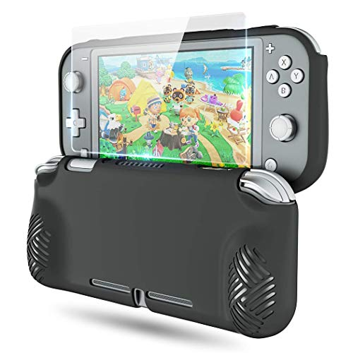 Case for Nintendo Switch Lite, OIVO Ergonomic TPU Protective Grip Cover for Nintendo Switch Lite- 1× HD Glass Screen Protector Included