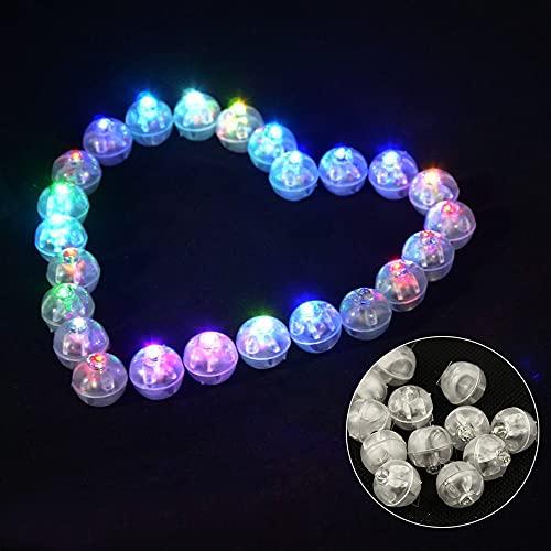 100 pz piccola lampada LED Flash Ballon luci, lanterne luce Flash Ball Lamp, lunga durata di standby per lanterna, decorazione per Natale, Halloween (colore casuale)