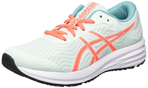 Asics Patriot 12, Zapatos para Correr Unisex Niños, Bio Mint/Sunrise Red, 35 EU
