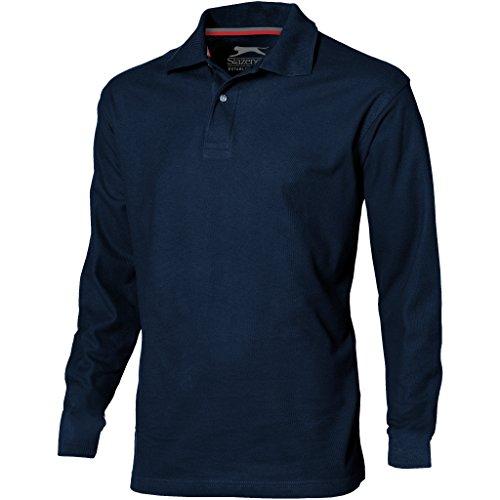 Slazenger Herren Point Langarm Polo Shirt (2XL) (Marineblau)