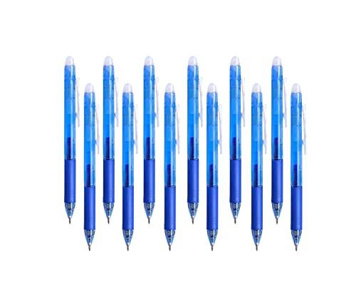 Kugelschreiber,Radierbar Stift,Gelschreiber Radierbar,Radierbarer Kugelschreiber 0,7,Nachfüllbar, Retractable Gel,Tintenroller Mit Druckmechanik,Kugelschreiber set(Blau)