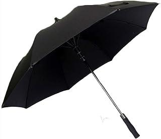 Umbrella Windproof Umbrella Folding Large Long Handle Automatic Double Layer Wind Resistant (Color : Black)
