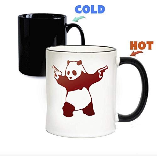 Anomis Banksy pistool slinger panda grappig door grappige koffie thee magische mok een maat