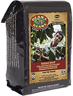 Dean's Beans Organic Coffee Company, Hazelnut Dream Natural Water Process Decaf, Ground, 16 Ounce Bag (Organic, Fair Trade and Kosher Certified)