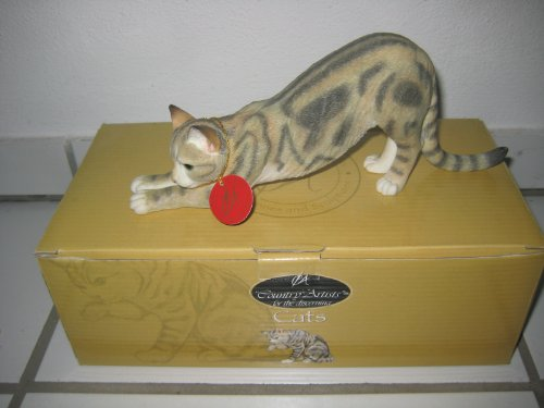 Tabby Katze Stretching Country Artists 9 cm OVP