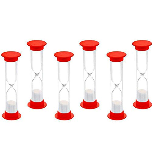 BESSEEK Sand Timer 1 Minute Hourglass Timer Sandglass Clock for Kids Games Classroom Home Office Kitchen Decoration Timers, Thanksgiving, Halloween, Christmas, New Year Party Decorations (Pack of 10)