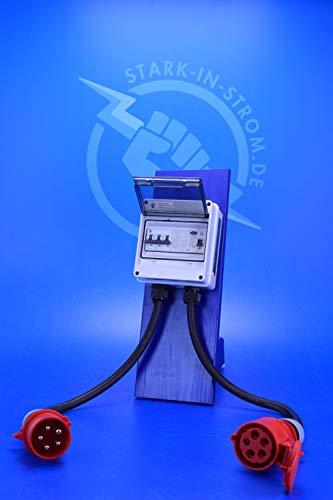 FI-Adapter 32A CEE mit Vorsicherung und FI Typ -B- 0,03A / Allstromsensitiv