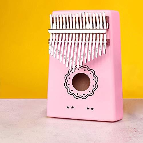 Kalimba 17-key Mbira Vinger Vinger Piano Met KOA Hout Multi-select Tuner Hamer Draagtas Doekjes Geschikt For Kinderen Volwassen Beginners 17-key Thumb Piano (Color : Pink, Size : Sunflower)