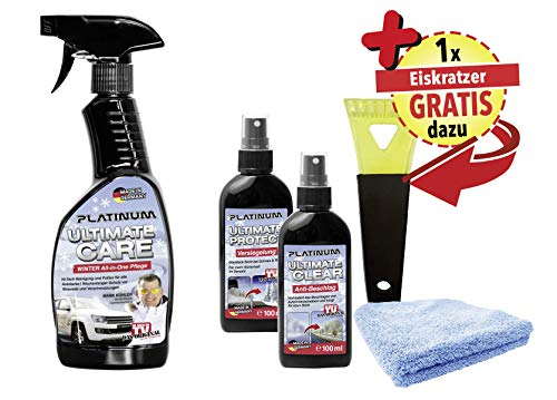 Platinum Ultimate Care Winter Edition, Reiniger für das Auto + GRATIS dazu innovativer Eiskratzer