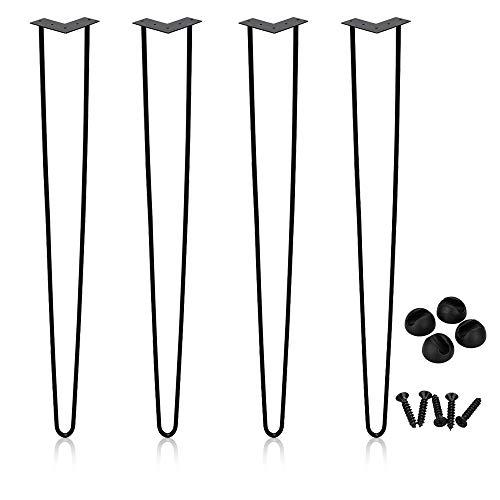 4 piezas patas de mesa de horquilla pies de muebles patas de horquilla de marco de mesa de metal, para mesa de cafe, mesa de comedor, mesa de trabajo, 72 cm (28 pulgadas)
