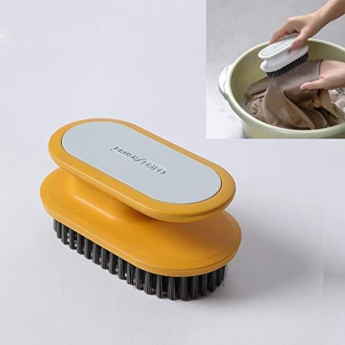 Productos de Limpieza 5 PCS A075 Plaquines de plástico Suave Lavado de Zapatos Cepillo de zapatería Limpieza de Pincel Ropa Lavandería Baño Cepillo Majestado Caddy de Limpieza (Color : Yellow)