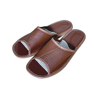 Braune Hausschuhe für Männer mit offenen Zehen – Innen- oder Urlaubsschuhe für Männer