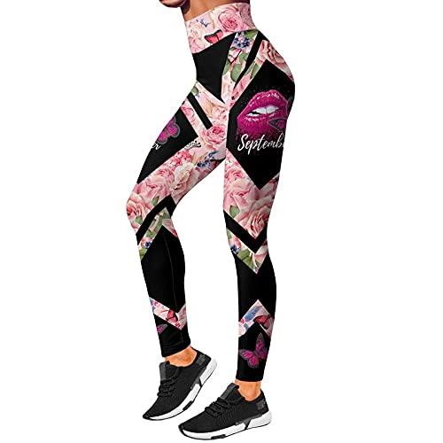 ZKHD Pantalones de Yoga Estampados para Mujer Leggings de Levantamiento de Glúteos de Cintura Alta Entrenamiento Elástico Correr Medias Deportivas Elásticas,B-Xxlarge