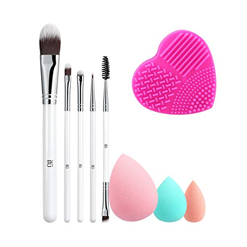T4B ILU Liquid Therapy 7 Pcs Set Pinceaux Maquillage Avec 3 Eponges Et 1 Nettoyeur Pour Pinceaux