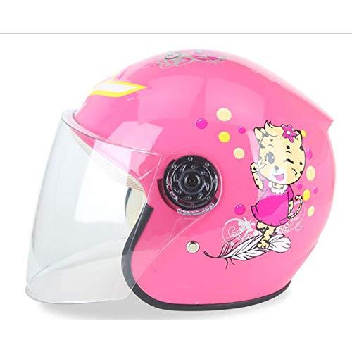 Evin Kinderhelm, Elektroauto-Helm Motorrad Cartoon Junge Mädchen leichte Fahrradhelm Sommer Sonnenschutz Vier Jahreszeiten universal,Tiger