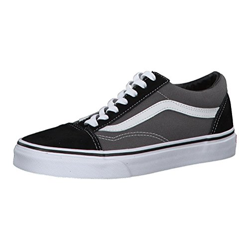 Vans Unisex Adults Old Skool Classic Suede/Canvas Sneakers, Grey (Black/Pewter), Men's 7.5 US/Women's 9 US