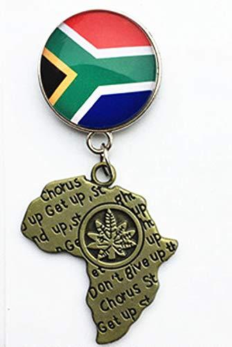 Kühlschrankmagnet mit Nationalflagge & Karte von Südafrika, Souvenir, Geschenk, Heim- & Küchendekoration, Magnetaufkleber, Südafrika-Kühlschrankmagnet