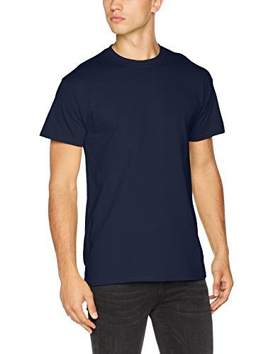Gildan Herren Heavy Cotton Tee T-Shirt, Blau (Navy Navy), X-Large