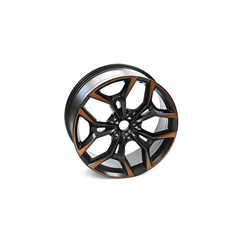 Seat 575601025AMXEB Aluminio Cupra 20 Pulgadas Tuning Sport 8Jx20 ET40 5x112, Llanta de Metal Ligero, Color Negro Mate/Cobre
