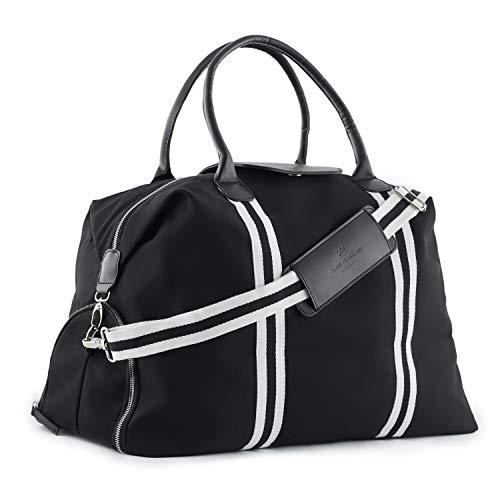 Saint Maniero ® Design Reisetasche mit extra Schuhfach – veränderbares Volumen von XL...