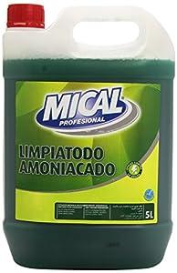 Mical Profesional - Limpiatodo amoniacado - Eficaz contra la grasa - 5 l