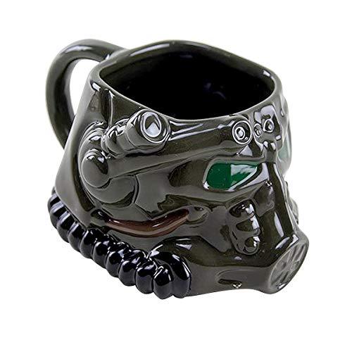 Fallout Tasse 3D Power Armor - schwarz, Bedruckt, aus Keramik, in attraktiver Geschenkbox