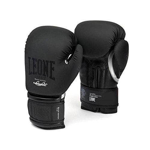 LEONE 1947 GN059 BLACK&WHITE Gants Boxe - noir - 12 oz