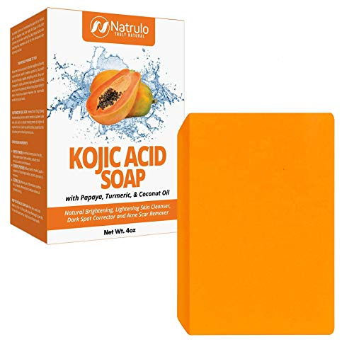 Kojic Acid Soap for Face & Body - All Natural Kojic Acid with Turmeric Skin Soap Bar - Kojic Face Soap for Even Tone, Bright Complexion, Glowing Skin - Kojic Acid Soap for All Skin Types Made in USA