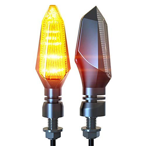 1 Pair Motorcycle LED Turn Signal Light Lamps Motorbike Turn Lighting Direction Indicator Fit For Cafe Racer MT07 MT09 Z900 Z800 R3