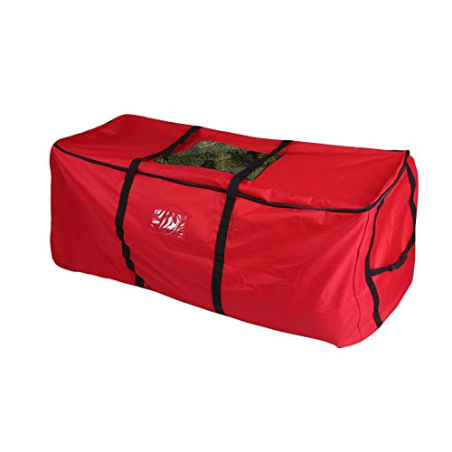 PENSON & CO. Christmas Tree Storage Bag, Heavy Duty Canvas Storage Container, Large for 9ft Artificial Tree-Red