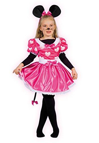Ciao 10798 - Disfraz de Mickey Mouse para niña con maquillaje Minnie 8-10 anni Rosa