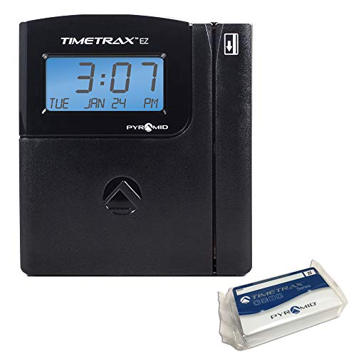 Pyramid TTEZEK TimeTrax Automated Swipe Card Time Clock System with Software, Black
