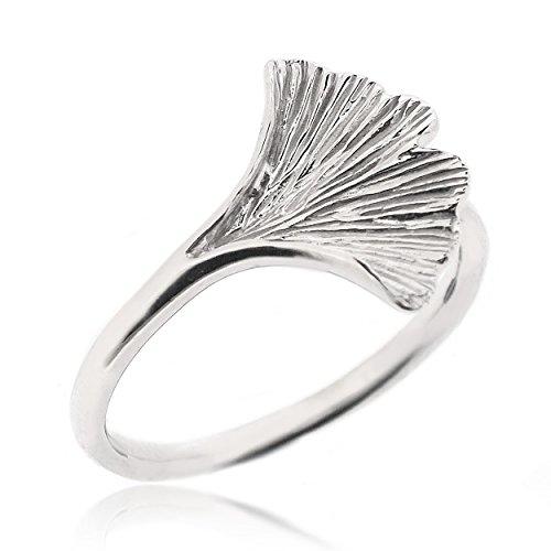 Sovats Damen Ginkgo Blatt-Ring, Größe 52
