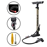 Vandorm Super Lite Alloy Bicycle Lightweight Presta Schrader Universal Bike Tyre Inner Tube Track Pump & FREE...