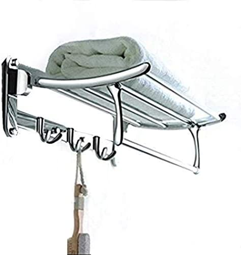 Fortune Platinum Stainless Steel Folding Towel Rack 1.5 feet Long with Chrome Finish for Bathroom product image