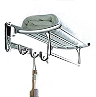 Elegant Design with Long Life Shine, Flexible & High in Strength, Material : Stainless Steel Easy clean by wet cloth (DO NOT USE ACID) Lowers Bathroom Space Consumption by Folding the Rack with Satisfactory Use of Towel Space Available with Fitting M...